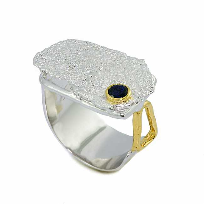 GERMAN KABIRSKI Sapphire Silver Ring