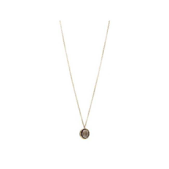 LINE ARGENT Smoky Quartz Necklace