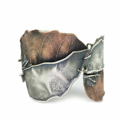 Dorian Grabowski Silver & Copper Leaf Bracelet