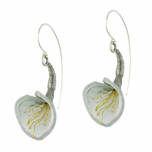Pawel Kaczynski Grey Lily Earrings