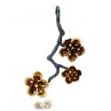 Cherry Blossom Silver Pendant