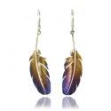 Feather Silver Earrings