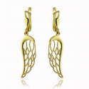 Angel's Wing Gold Earrings