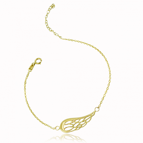 Angel's Wing Gold Bracelet