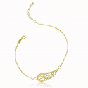 Angel's Wing Gold Bracelet