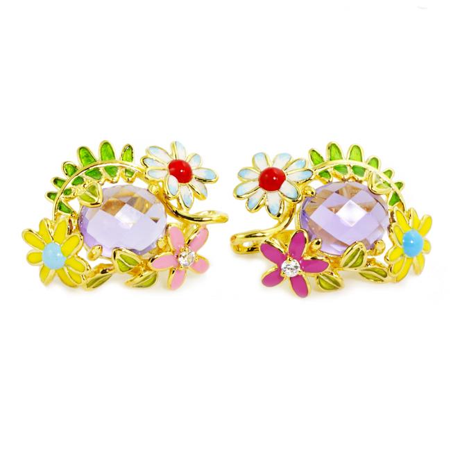 Spring Meadow Amethyst Earrings