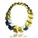 WYGANOWSCY Srebrny Naszyjnik 3D