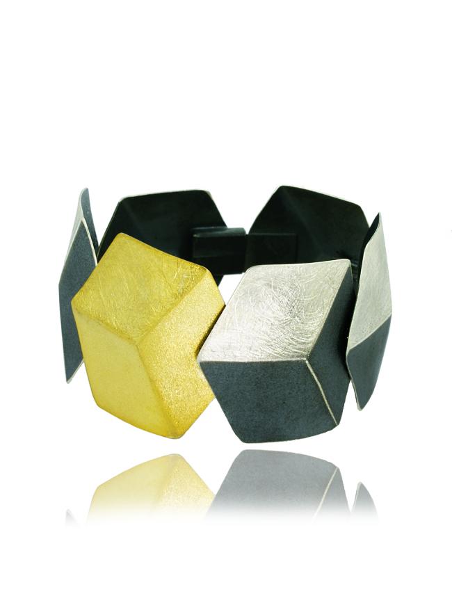 WYGANOWSKI Silver 3D Bracelet