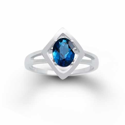 London Topaz Silver Ring
