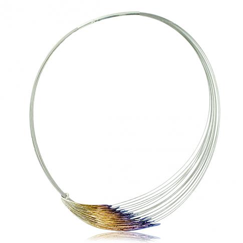 Skrzydło Anioła - srebrny naszyjnik