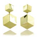 WYGANOWSCY Złote Kolczyki 3D