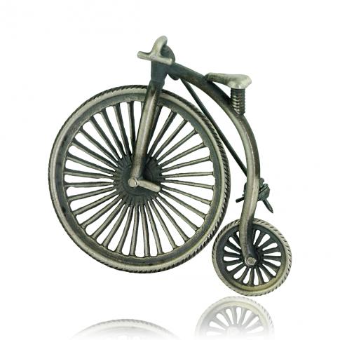 Srebrna Broszka Rower