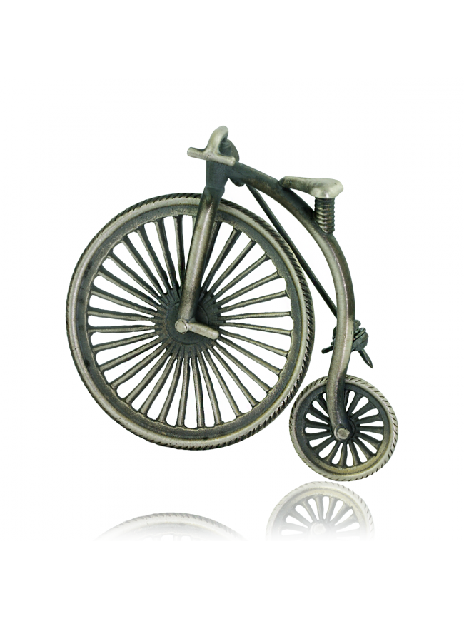 Bicycle Silver Brooch