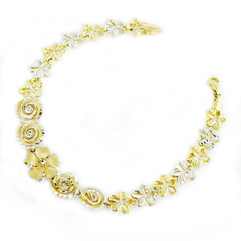 FLOWERS Gold 585 Bracelet