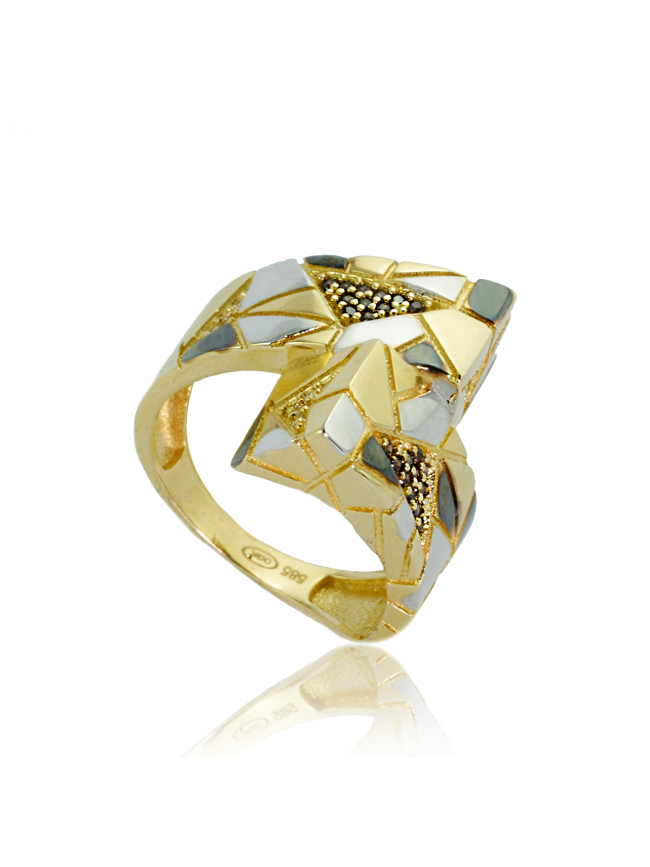 Duży złoty pierścionek