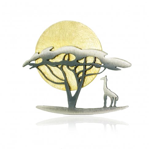 SAFARI Silver Brooch&Pendant