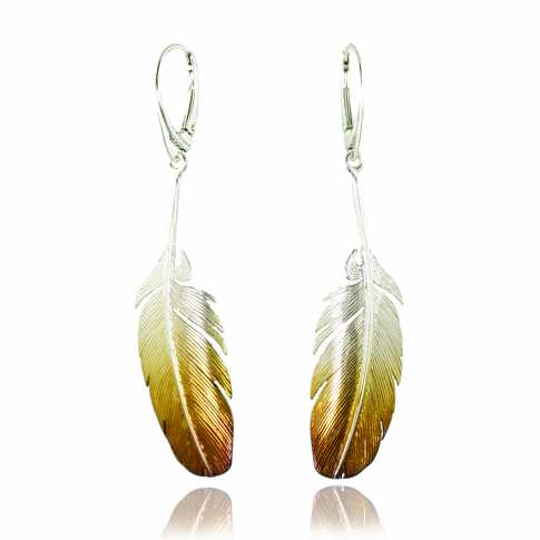 Feather Silver Earrings 2