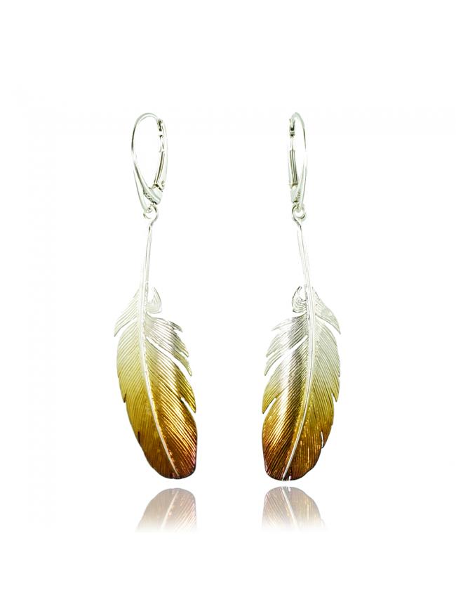 Feather Silver Earrings 2
