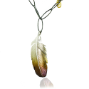 Feather Silver Necklace