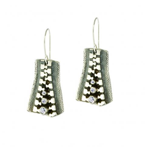 ZIP Silver Earrings