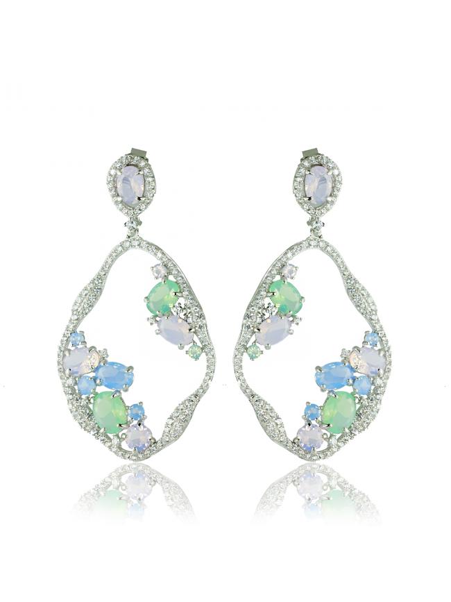 LINE ARGENT Silver Earrings