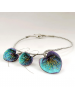 BLUE GARDEN Earrings and Necklace Set