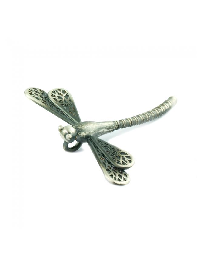 Duża Ważka - srebrna broszko-zawieszka