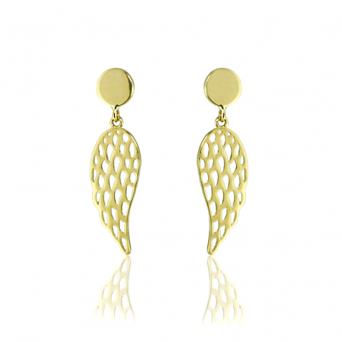 Angel's Wings Gold Earrings