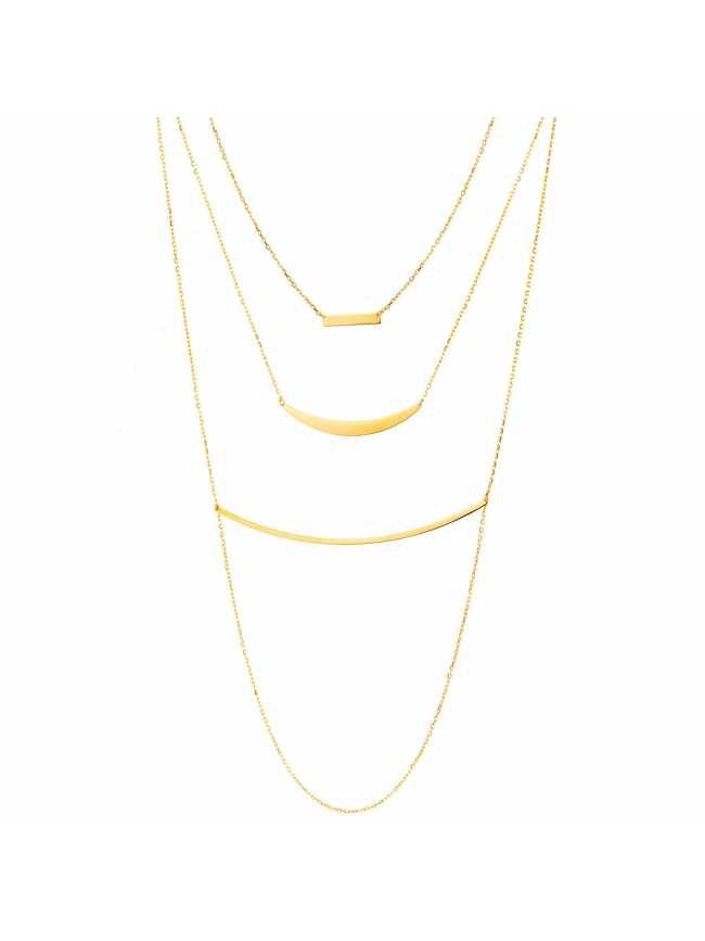 Potrójny srebrny naszyjnik