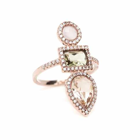 LINE ARGENT Rose Quartz Ring
