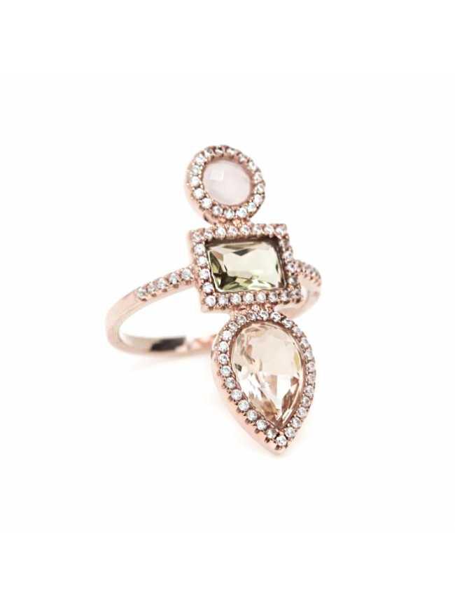 LINE ARGENT Rose Quartz Ring