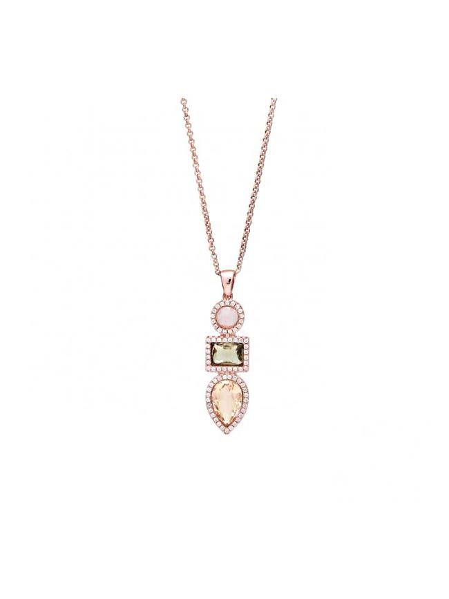 LINE ARGENT Silver Quartz Necklace