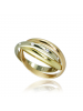Obrączka ze złota z diamentami