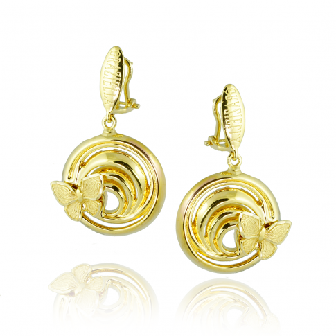 GRAZIELLA Butterfly Gold 14K Earrings