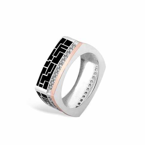 Silver & Gold Enamel Ring