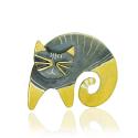 BONIFACY Cat - Silver Brooch & Pendant