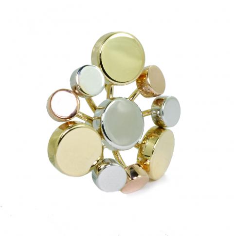 Tri-Color Gold Pendant
