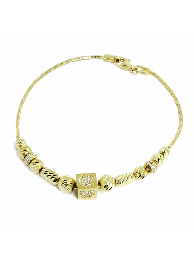 Gold (14K) Heart Bracelet
