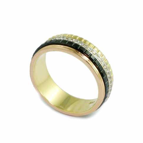 Złoty Pierścionek w formie obrączki