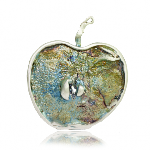 Green Apple Silver Pendant