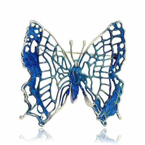 Broszka Błękitny Motyl Dorian Grabowski