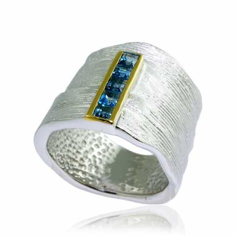 German Kabirski Blue Topaz Ring