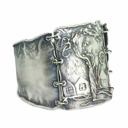HOUSES Silver Bracelet
