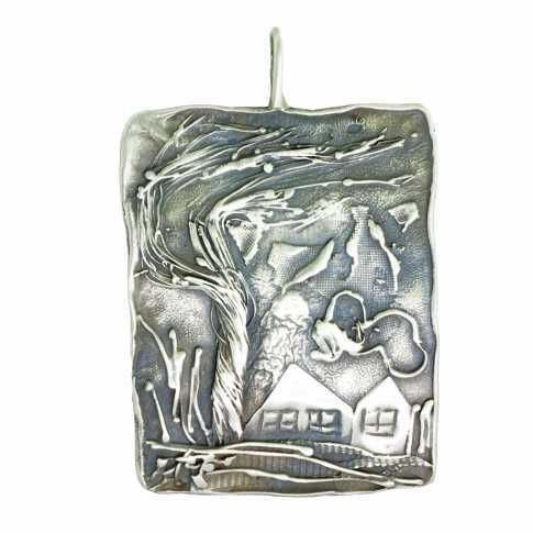 HOUSES Silver Pendant