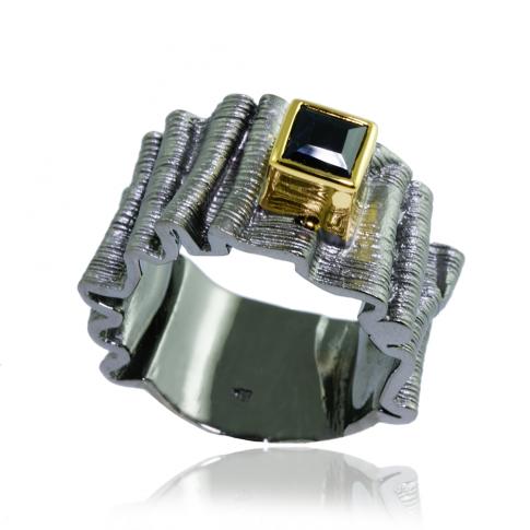 German Kabirski Black Stone Ring
