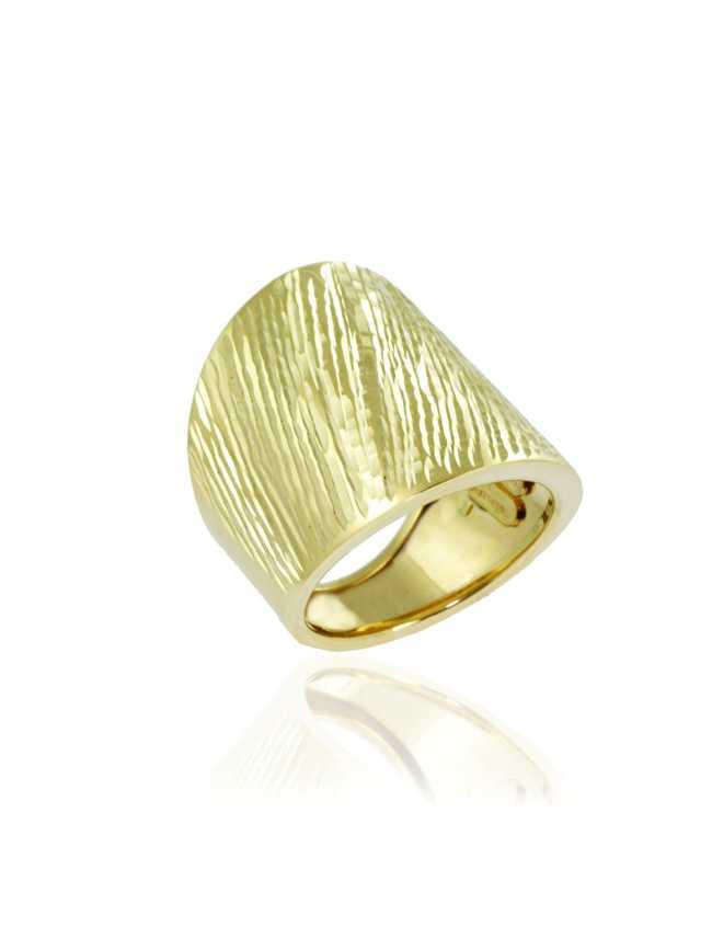 Duży złoty pierścionek SPLENDIDA