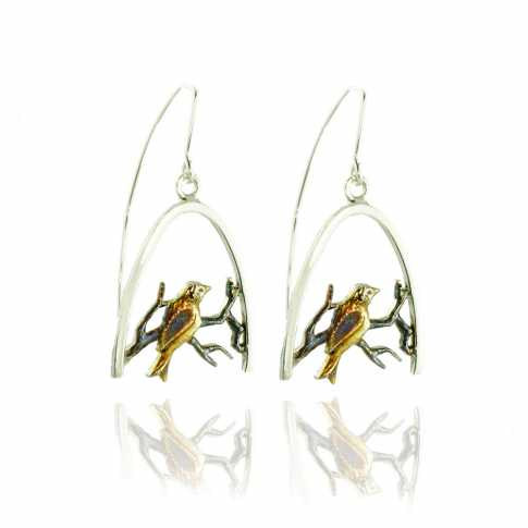 BIRDS Silver Earrings