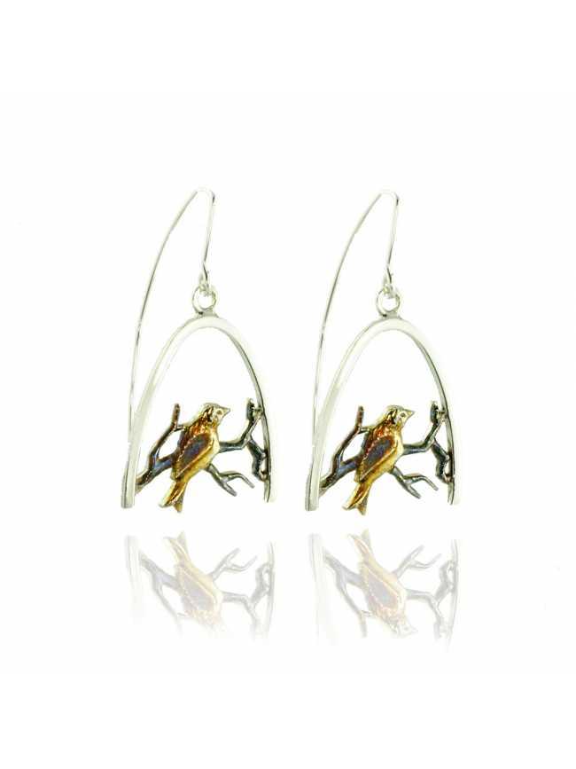 BIRDS Silver Earrings