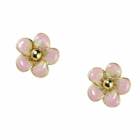Apple Blossom Golden 585 Earrings