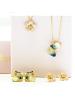 Apple Blossom Golden 585 Earrings